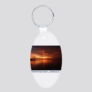 Montego Bay Sunset Aluminum Oval Keychain