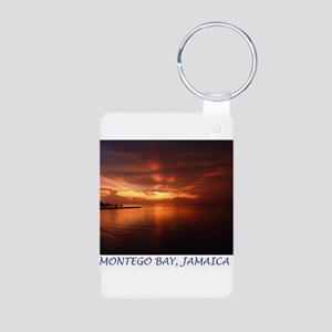 Montego Bay Sunset Aluminum Photo Keychain