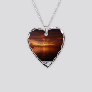 Montego Bay Sunset Necklace Heart Charm