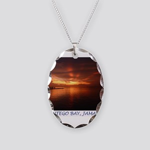 Montego Bay Sunset Necklace Oval Charm