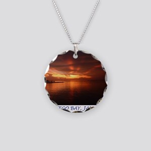 Montego Bay Sunset Necklace Circle Charm