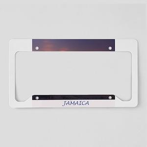 Jamaica Sunset License Plate Holder