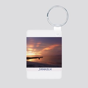Jamaica Sunset Aluminum Photo Keychain