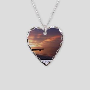 Jamaica Sunset Necklace Heart Charm