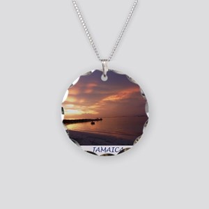 Jamaica Sunset Necklace Circle Charm