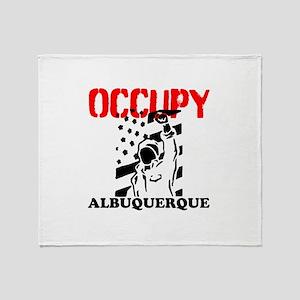 Occupy Albuquerque Throw Blanket