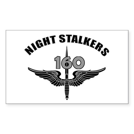 Night Stalkers TF-160 Sticker (Rectangle)