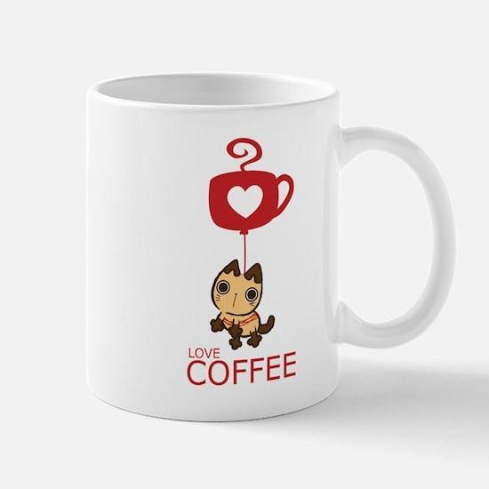 Crazy Cat Loves Coffee Mug