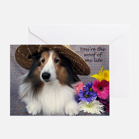 You're the woof of my Life Greeting Card