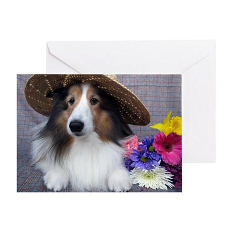 Dog in a Hat Greeting Card