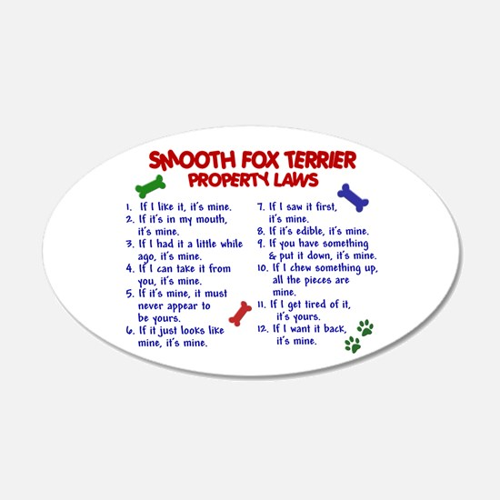 Smooth Fox Terrier Property Laws 2 22x14 Oval Wall
