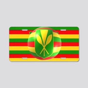 Old Hawaiian Flag Design Aluminum License Plate