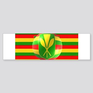 Old Hawaiian Flag Design Sticker (Bumper)