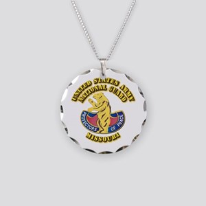 Army National Guard - Missouri Necklace Circle Cha
