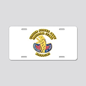 Army National Guard - Missouri Aluminum License Pl