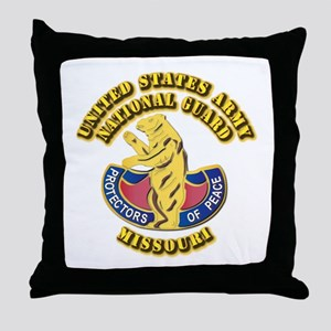 Army National Guard - Missouri Throw Pillow