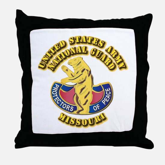 Army National Guard - Missouri Throw Pillow