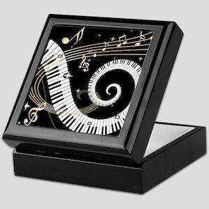 Mixed Musical Notes (black go Keepsake Box