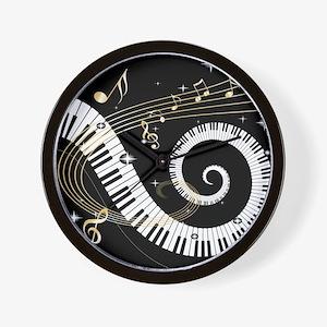 Mixed Musical Notes (black go Wall Clock
