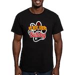 Bulldog Best Friend Men's Fitted T-Shirt (dark)