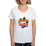 Bulldog Best Friend Women's V-Neck T-Shirt