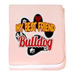 Bulldog Best Friend baby blanket