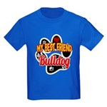 Bulldog Best Friend Kids Dark T-Shirt