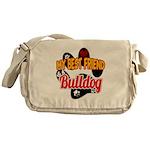Bulldog Best Friend Messenger Bag