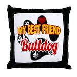 Bulldog Best Friend Throw Pillow
