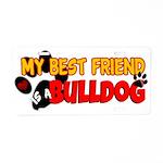 Bulldog Best Friend Aluminum License Plate