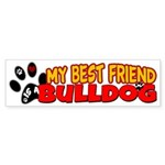 Bulldog Best Friend Sticker (Bumper)
