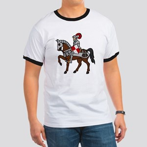 Knight Mounted On Horse Ringer T