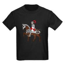 Knight Mounted On Horse Kids Dark T-Shirt
