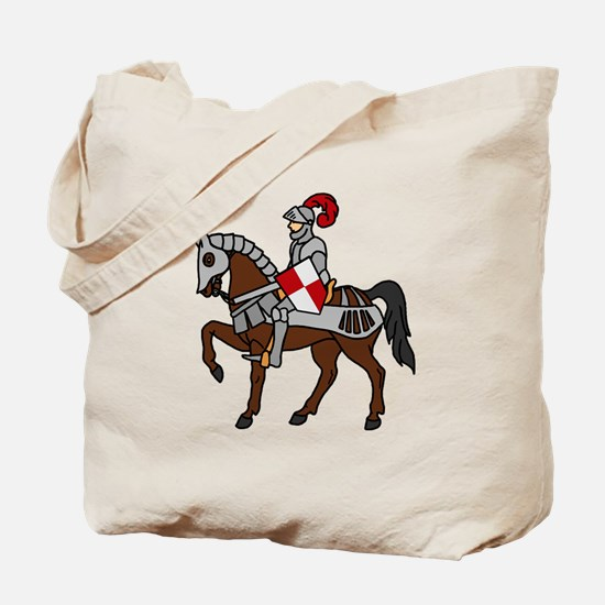 Knight Mounted On Horse Tote Bag
