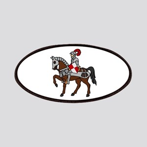 Knight Mounted On Horse Patches