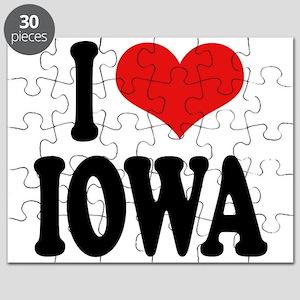I Love Iowa Puzzle