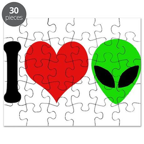 I Love Aliens (design) Puzzle