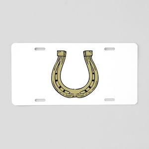 Good Luck Horseshoe Aluminum License Plate