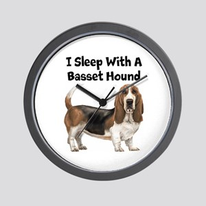 I Sleep With A Basset Hound Wall Clock