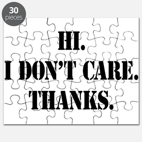 Hi. I Don't Care. Thanks. (4) Puzzle