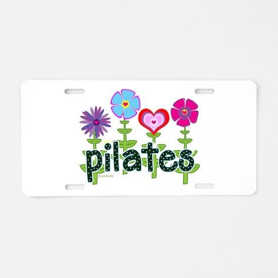Cute Pilates Aluminum License Plate