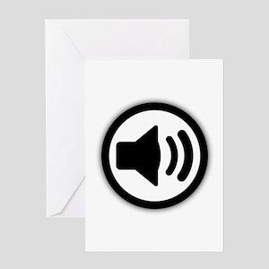 Audio Speaker Greeting Card