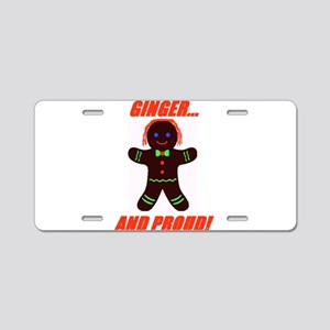 Ginger Pride Aluminum License Plate