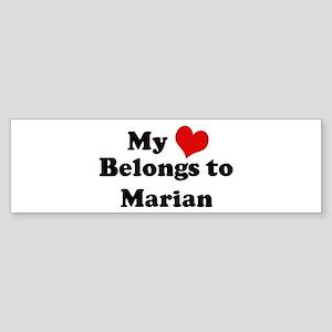 My Heart: Marian Bumper Sticker