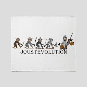 JoustEvolution Monkeys Throw Blanket