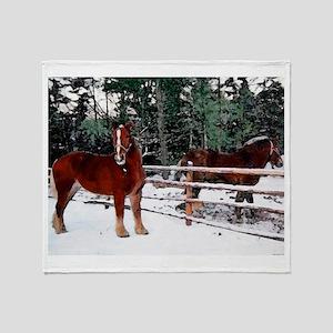 Horses Throw Blanket