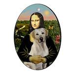 Mona Lisa / Lab (y) Ornament (Oval)