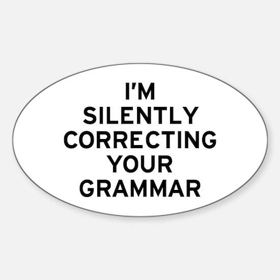 I'm Correcting Sticker (Oval)