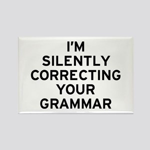 I'm Silently Grammar Rectangle Magnet