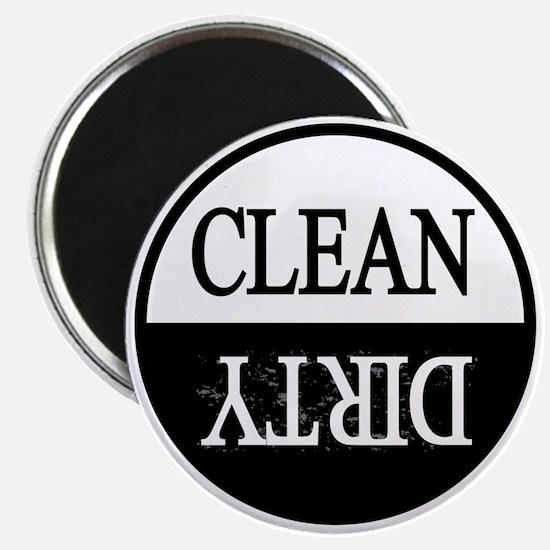 Clean dirty black border dishwasher Magnet